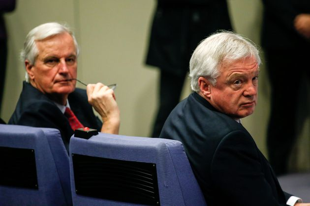 The EU's Michel Barnier and Brexit Secretary David