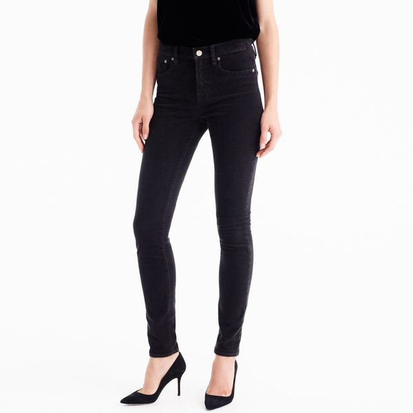 """<a href=""""https://www.jcrew.com/p/womens_category/pants2/skinnyankle/9-highrise-toothpick-corduroy-pant/F5338?color_name=black"""