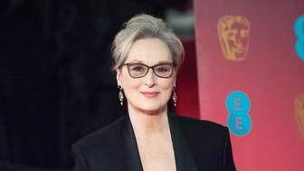 LONDON, UNITED KINGDOM - FEBRUARY 12: Meryl Streep attends the 70th British Academy Film Awards (BAFTA) ceremony at the Royal Albert Hall on February 12, 2017 in London, England.  PHOTOGRAPH BY Wiktor Szymanowicz / Barcroft Images  London-T:+44 207 033 1031 E:hello@barcroftmedia.com - New York-T:+1 212 796 2458 E:hello@barcroftusa.com - New Delhi-T:+91 11 4053 2429 E:hello@barcroftindia.com www.barcroftimages.com (Photo credit should read Wiktor Szymanowicz / Barcroft Im / Barcroft Media via Getty Images)