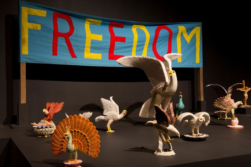 Freedom Banner with Birds