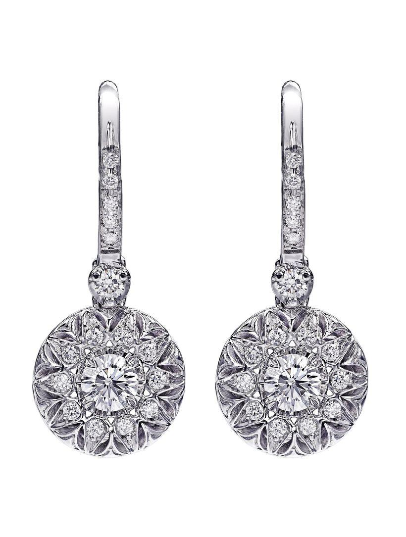 Christopher Designs .50ct. t.w. drop earrings in 18 karat white gold