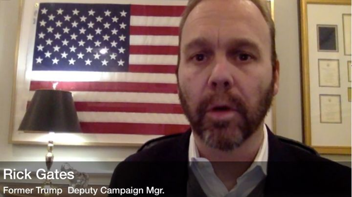 Rick Gates, a former Trump campaign manager, who is under house arrest as part of Robert Mueller's investigation, a