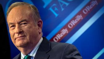 """Fox News Channel host Bill O'Reilly poses on the set of his show """"The O'Reilly Factor"""" in New York March 17, 2015. REUTERS/Brendan McDermid (UNITED STATES - Tags: ENTERTAINMENT MEDIA)"""
