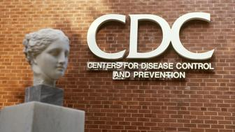 The Center for Disease Control and Prevention (CDC) in Atlanta, Georgia, with a bust of Hygiea, the Greek goddess of health.