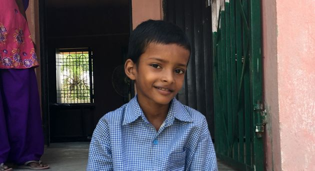 Ankitkumar, a young boy who was found and treated for leprosy in Lepra's active case finding screening
