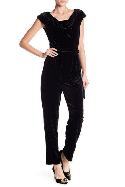 """<a href=""""https://www.nordstromrack.com/shop/product/2221142/eliza-j-tassel-belt-velvet-jumpsuit?color=BLK"""" target=""""_blank"""">El"""