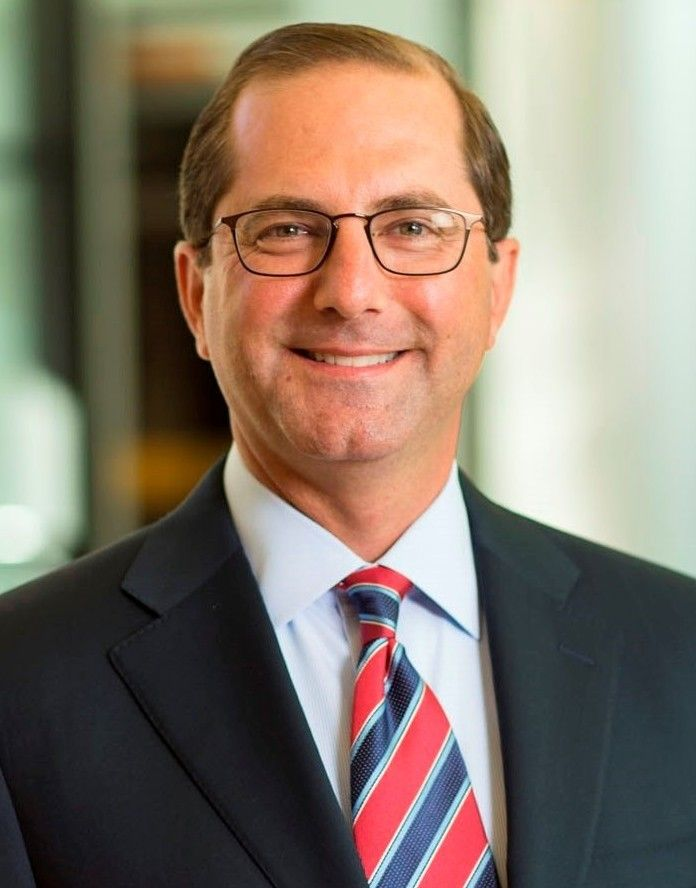President Donald Trump's nominee for United States Secretary of Health and Human Services, Alex Azar.