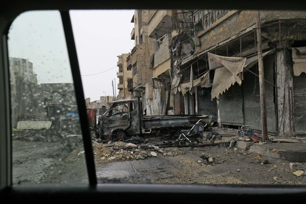 The city of Raqa has been devastated by Syria's civil