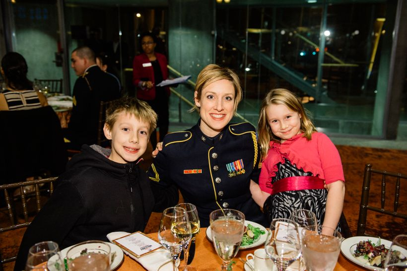 Guests at the Sixth Annual Military Thanksgiving at Arena Stage.