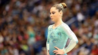 McKayla Maroney, Long Beach, California, during the Senior Women Competition at The 2013 P&G Gymnastics Championships, USA Gymnastics' National Championships at the XL, Centre, Hartford, Connecticut, USA. 15th August 2013. Photo Tim Clayton (Photo by Tim Clayton/Corbis via Getty Images)