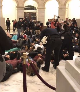 "The ""Die-In"" demonstration mentioned above which took place in the US Senate on Monday night, 12/18/17"