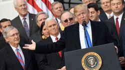 Donald Trump feiert seine Steuerreform – und tut sich damit keinen