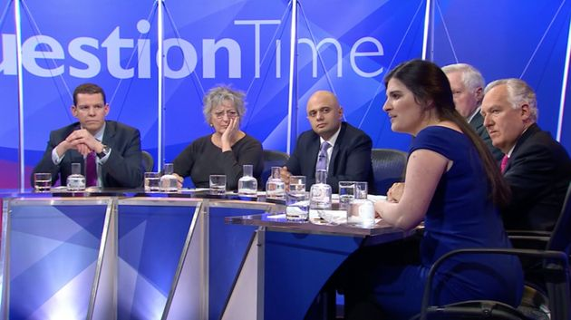 Kate Maltby (fourth from left) on BBC's Question