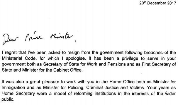 Green's resignation