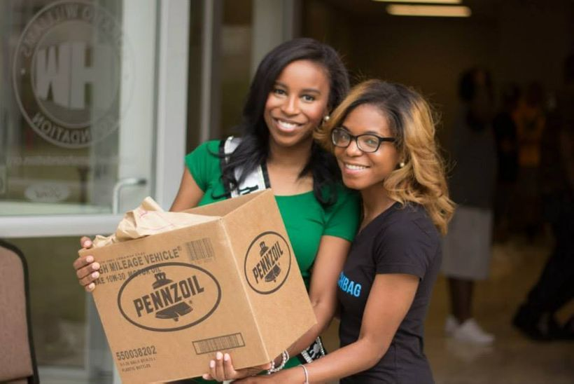 Brittni L. Brown with Nicole Johnson (left) at a Hashtag Lunchbag event