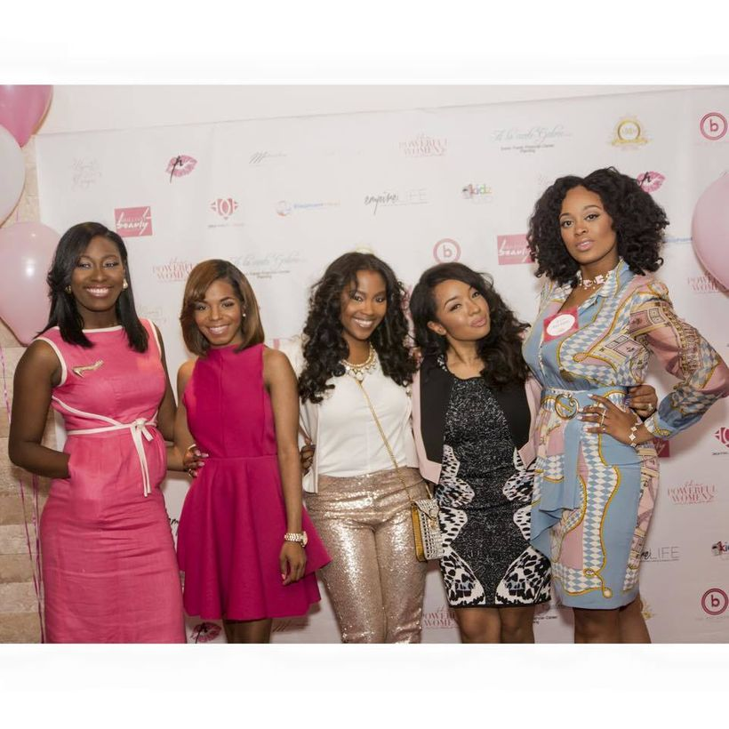Brittnmi L. Brown with her client, The Powerful Women during the Powerful Women's Weekend Conference. Left to right: Jazmine