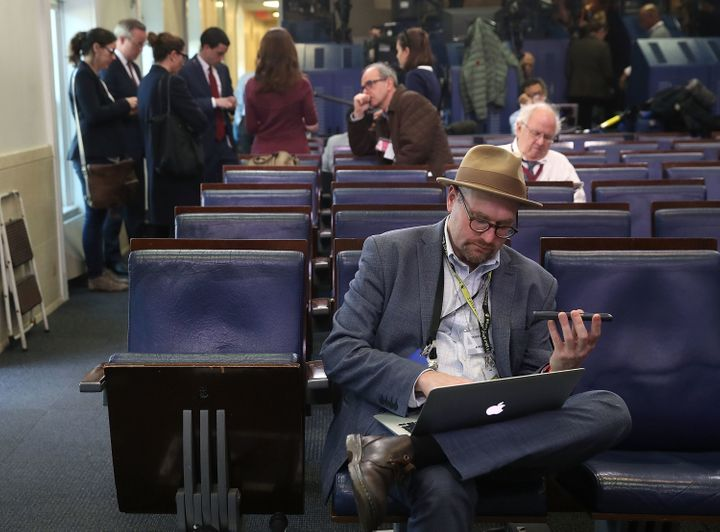 New York Times reporter Glenn Thrush is seen on Feb. 24, 2017, in Washington, D.C.