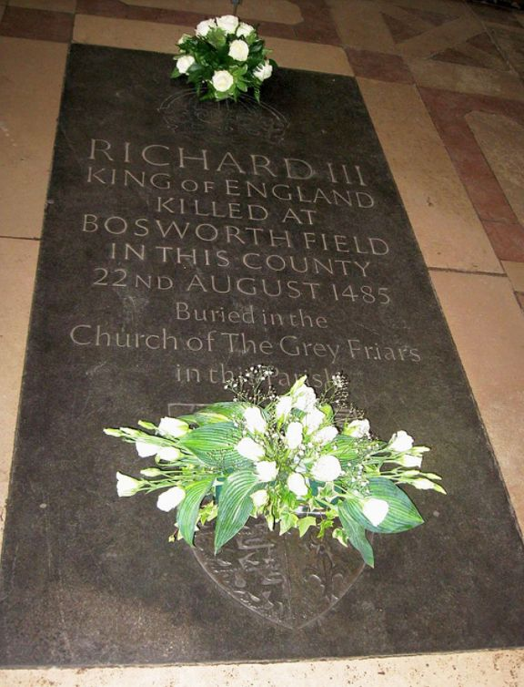 A memorial stone for Richard III at Leicester