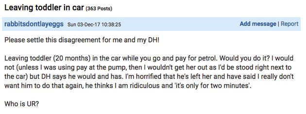 Mums Discuss Leaving Kids In The Car While Paying For Petrol: Is It