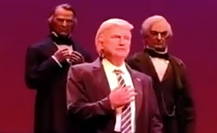 The 'Curb Your Enthusiasm' Theme Over Animatronic Trump Is Comedy