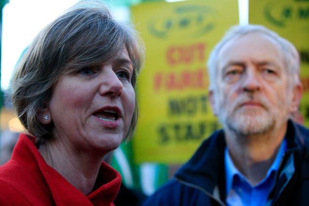 Lillian Greenwood with Labour leader Jeremy