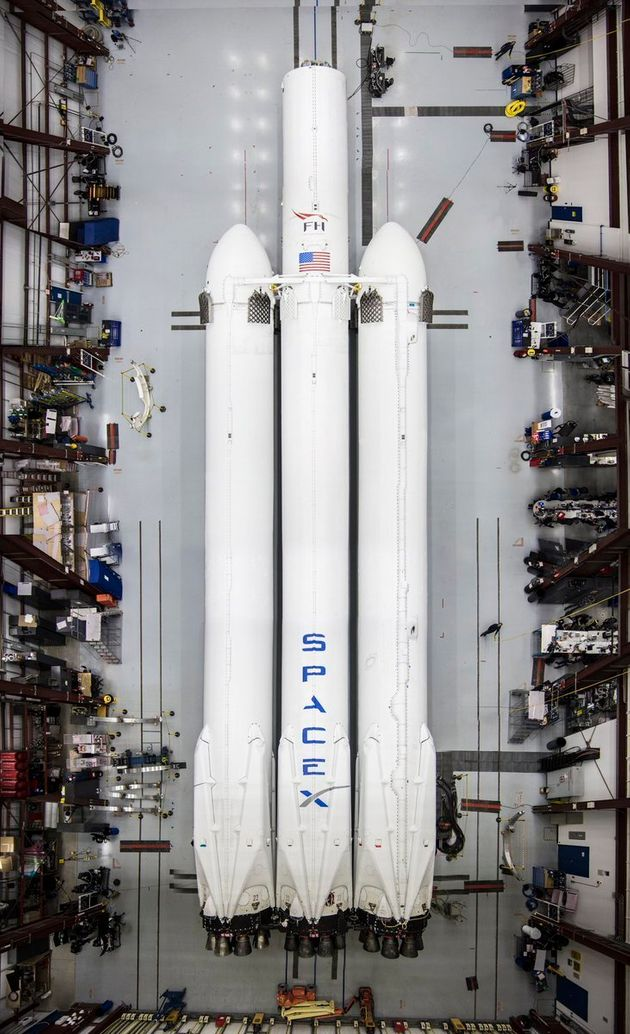 Elon Musk Posts Stunning Pictures Of SpaceX's Falcon Heavy Rocket On