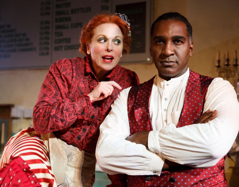 Carolee Carmello and Norm Lewis in <em>Sweeney Todd</em>
