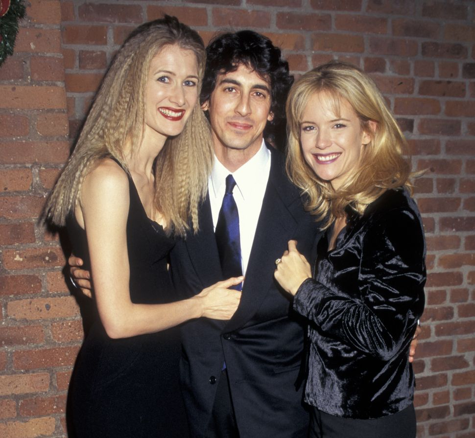 "Laura Dern, Alexander Payne and Kelly Preston at the ""Citizen Ruth"" premiere in 1996."