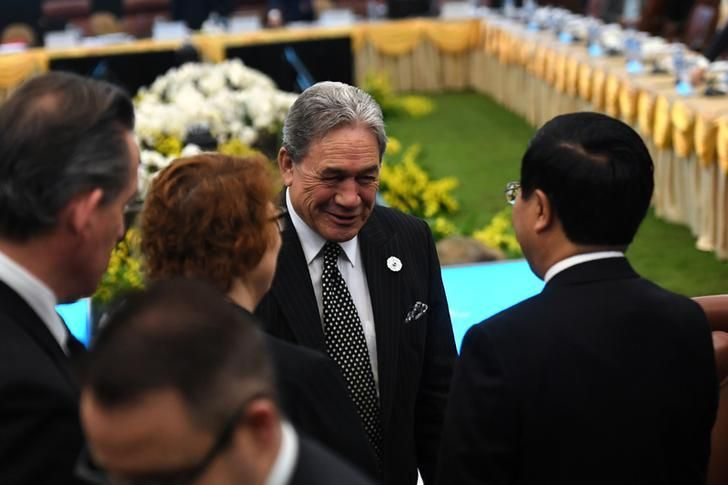 New Zealand's Foreign Minister Winston Peters at the Asia-Pacific Economic Cooperation (APEC) Summit leaders meetings in Dana