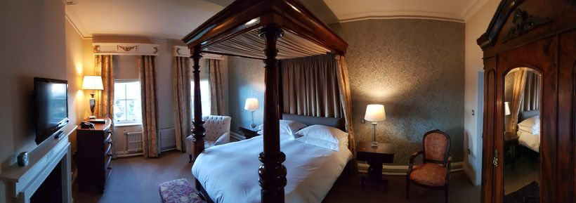 The Willoughby Room overlooking the hotel's English country garden and city walls