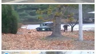 A North Korea soldier is shown defecting into South Korea in these still images taken from a video released by the United Nations Command (UNC) on November 22, 2017. (Top) A North Korean soldier drives a military vehicle towards the border, passing checkpoints manned by North Korean guards before appearing to get stuck in a ditch (centre), where he gets out and dashes into South Korea as North Korean border guards (not pictured) open fire. (Bottom) The wounded defector lies on the ground before South Korean soldiers (not pictured) crawl through undergrowth to drag him to safety.  United Nations Command/Handout via REUTERS ATTENTION EDITORS - THIS IMAGE HAS BEEN SUPPLIED BY A THIRD PARTY. IT IS DISTRIBUTED, EXACTLY AS RECEIVED BY REUTERS, AS A SERVICE TO CLIENTS.     TPX IMAGES OF THE DAY