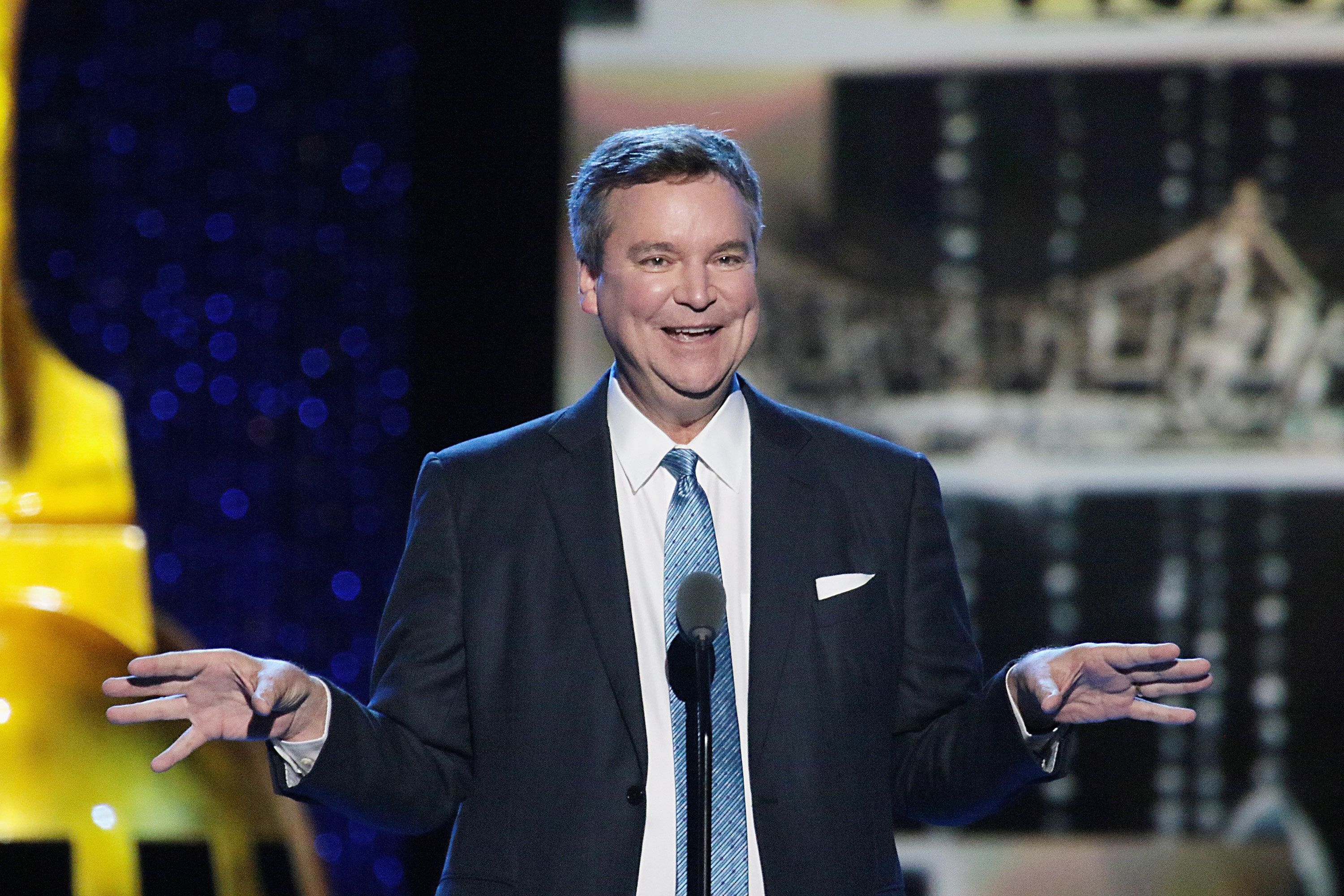 ATLANTIC CITY, NJ - SEPTEMBER 08:  Author Sam Haskell speaks onstage during Miss America 2017 - 3rd Night of Preliminary Competition at Boardwalk Hall Arena on September 8, 2016 in Atlantic City, New Jersey.  (Photo by Donald Kravitz/Getty Images)