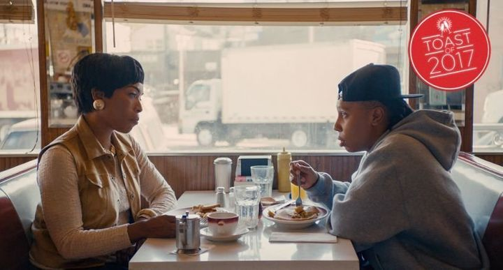 "Angela Bassett and Lena Waithe in the ""Thanksgiving"" episode of ""Master of None."""
