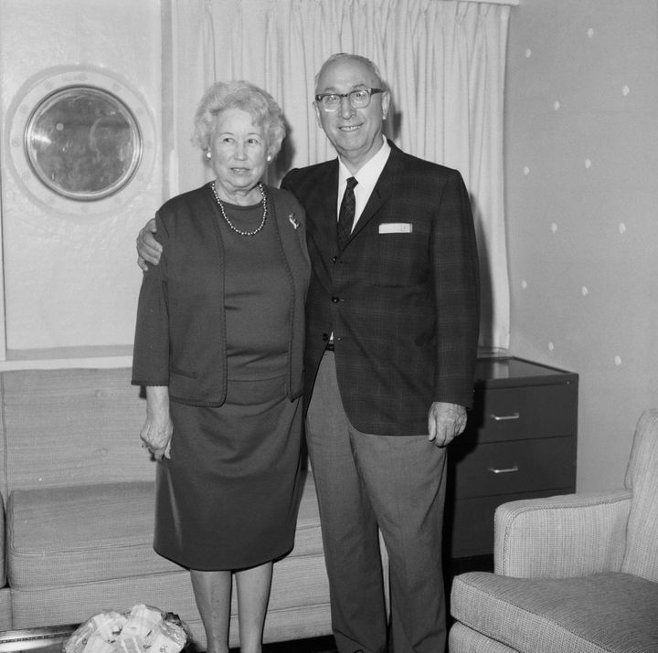 Roy O. Disney, seenhere with his wife Edna Francis, made a fortune as co-founder of the Disney company with his brother