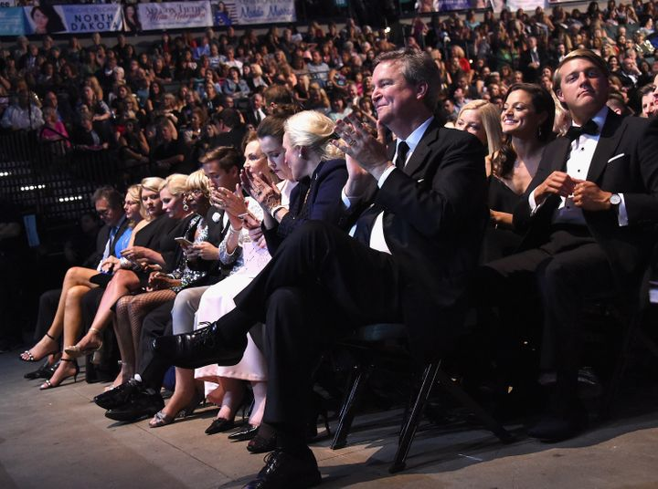 Sam Haskell applauds at the 2018 Miss America event in Atlantic City, New Jersey.