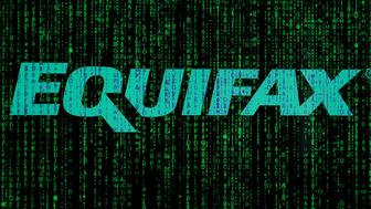 An Equifax logo is seen in this photo illustration on 20 October, 2017. The consumer credit reporting agency was hacked twice in 2017. In the last attack in July financial data belonging to over 145 million Americans was stolen including social security numbers, credit card numbers and addresses. (Photo by Jaap Arriens/NurPhoto via Getty Images)