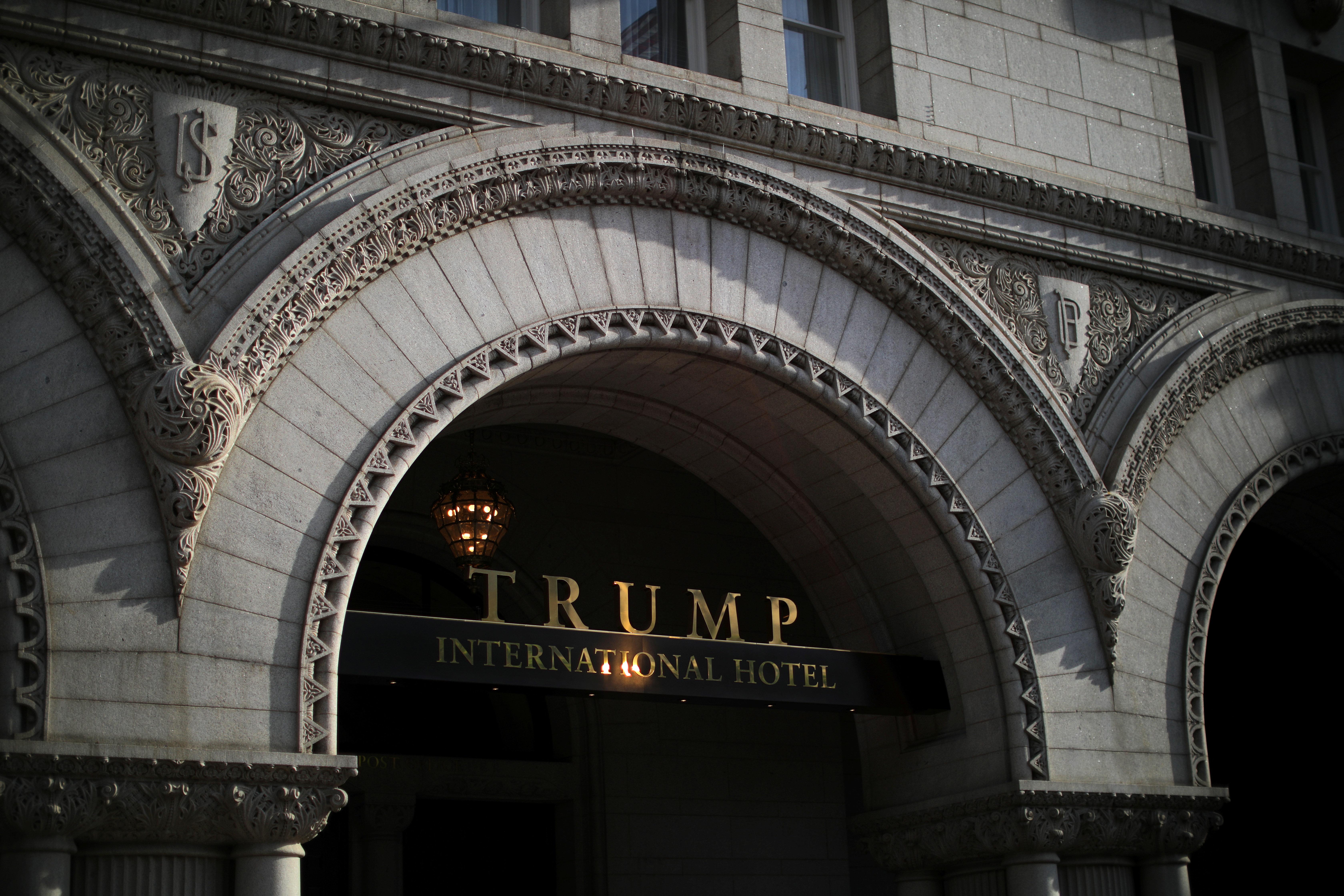 The entrance of Trump International Hotel is seen in downtown Washington, U.S., June 28, 2017. REUTERS/Carlos Barria