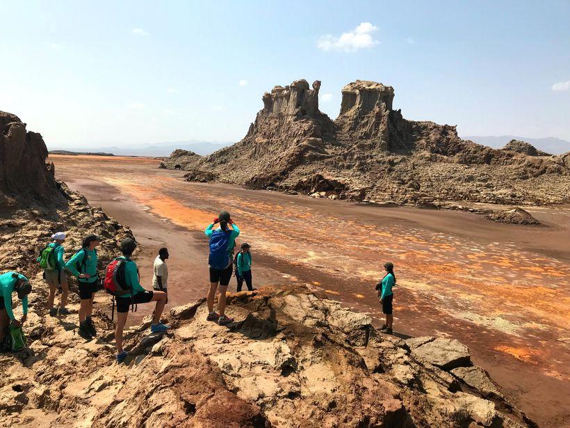The salt canyons near Dallol
