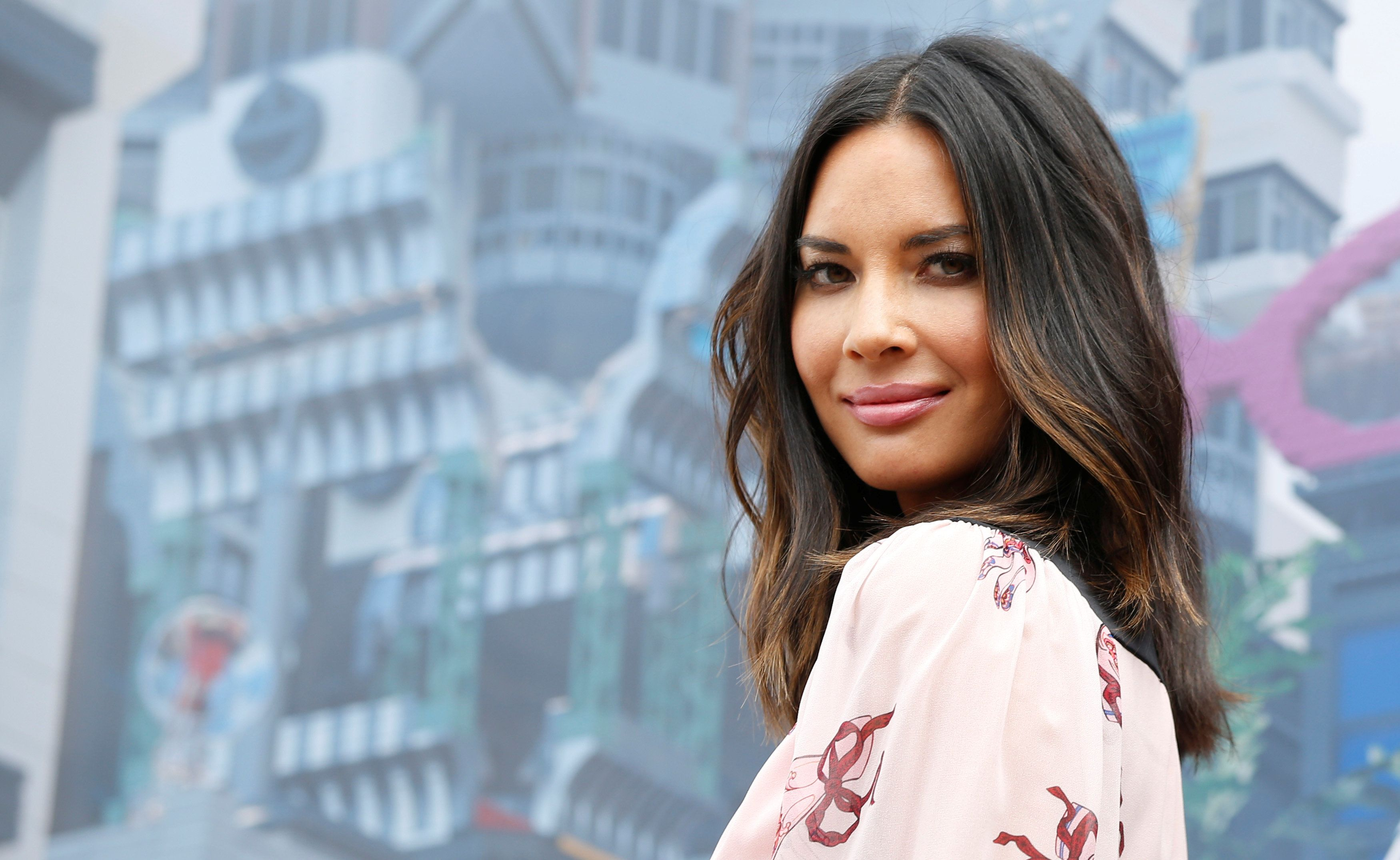 "Cast member Olivia Munn poses at a photo call for ""The LEGO Ninjago Movie"" at Legoland California in Carlsbad, California, U.S., September 14, 2017. REUTERS/Mario Anzuoni"