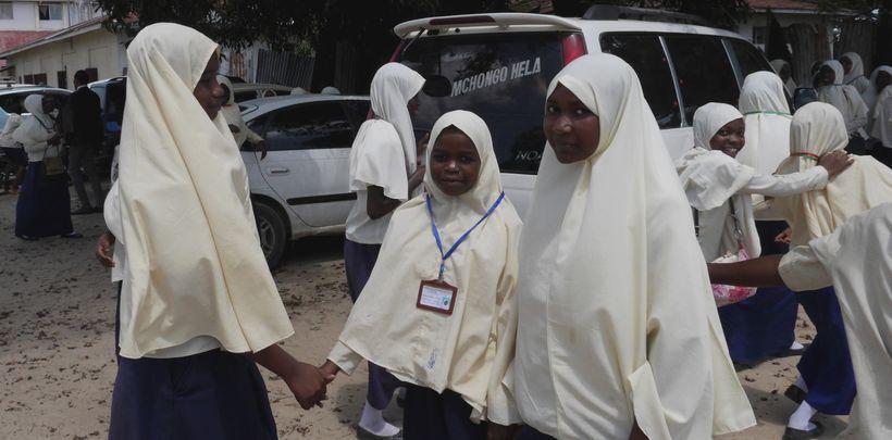 School girls in Zanzibar City