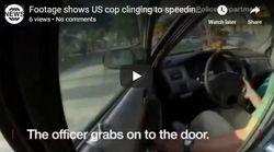 Βίντεο: Αστυνομικός στις ΗΠΑ γαντζώνεται σε αυτοκίνητο που τρέχει για να του