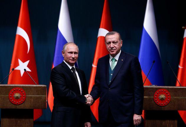 Επικοινωνία Πούτιν με Ερντογάν: Τάχθηκαν υπέρ της δημιουργίας ενός παλαιστινιακού