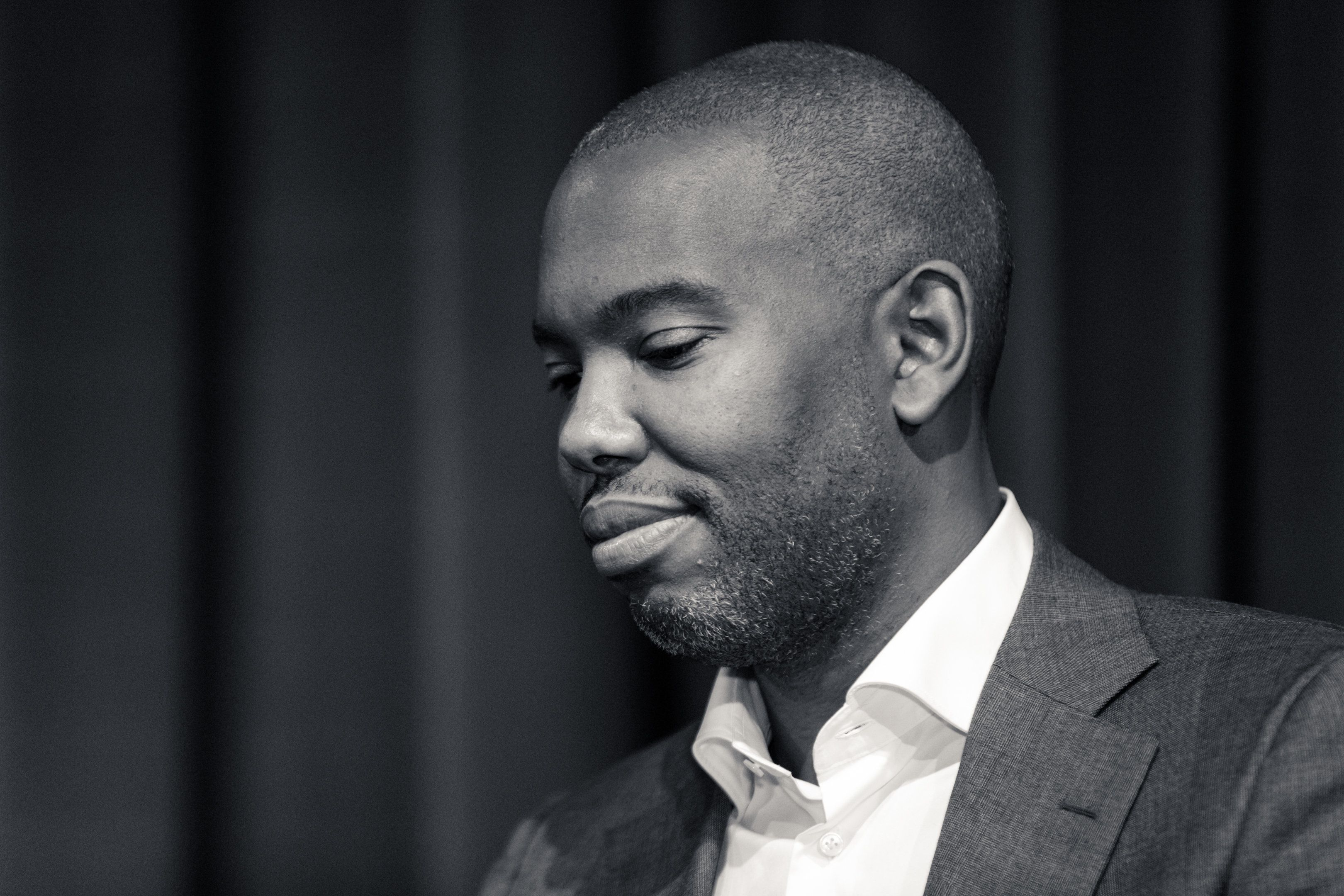 "On Wednesday, November 16, in the Ira Aldridge Theater at Howard University, Ta-Nehisi Coates, writer, journalist, and educator, speaks on a panel,  ""Post-Election Reflections"".(Photo by Cheriss May/NurPhoto via Getty Images)"