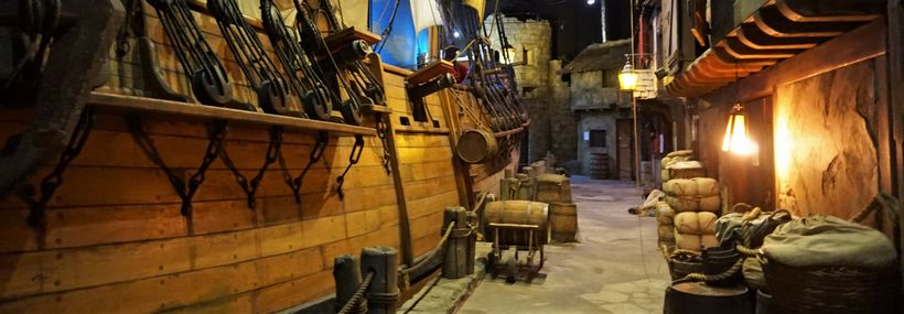 The Queen Anne's Revenge, Blackbeard's flagship in the Pirates of Nassau Museum