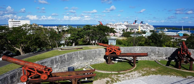 Cannons at Fort Fincastle and at Fort Nassau, which has disappeared, once protected pirates in Nassau from heavy warships.
