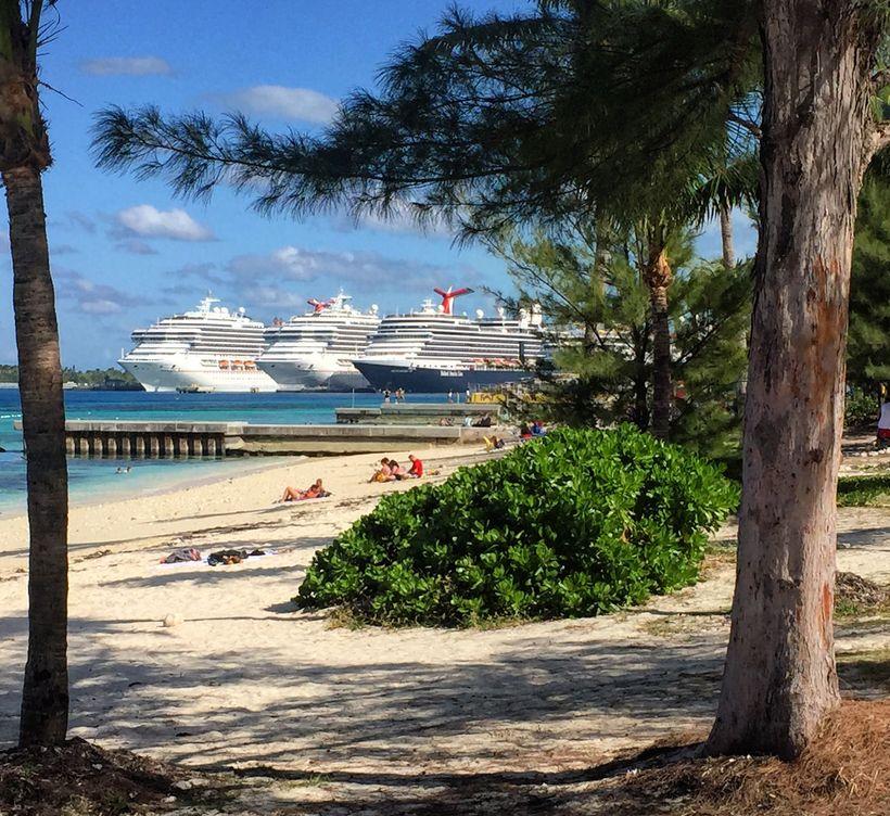 The harbor of Nassau, Bahamas