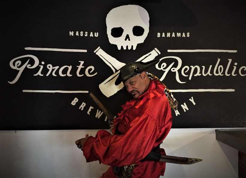 Pirate guide on the Pirate Republic Brewing Company pirate and beer tour