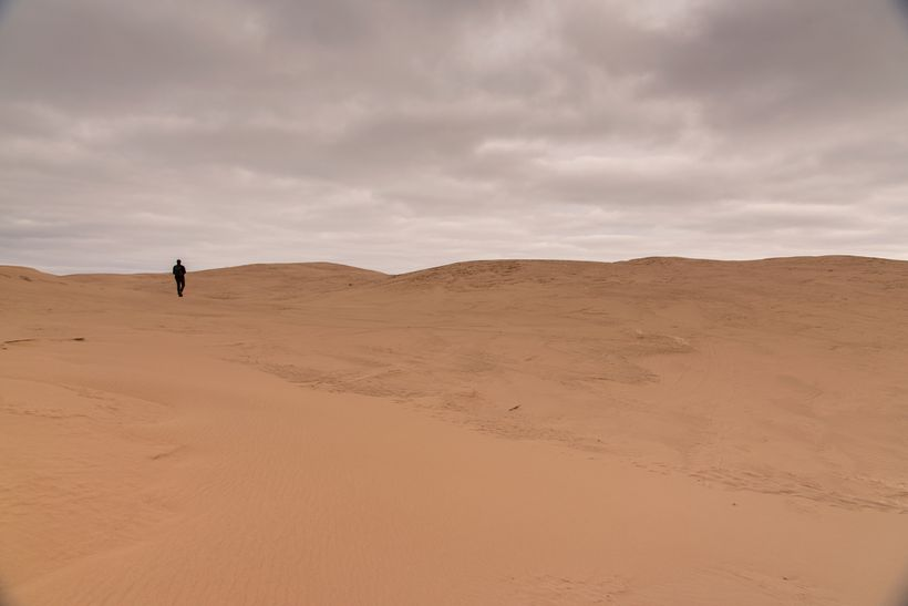 The seemingly never-ending expanse of sand dunes.