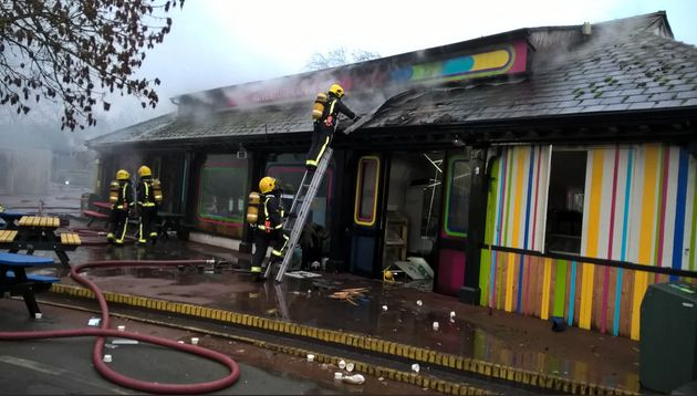 A number of zoo staff have been treated for shock and smoke