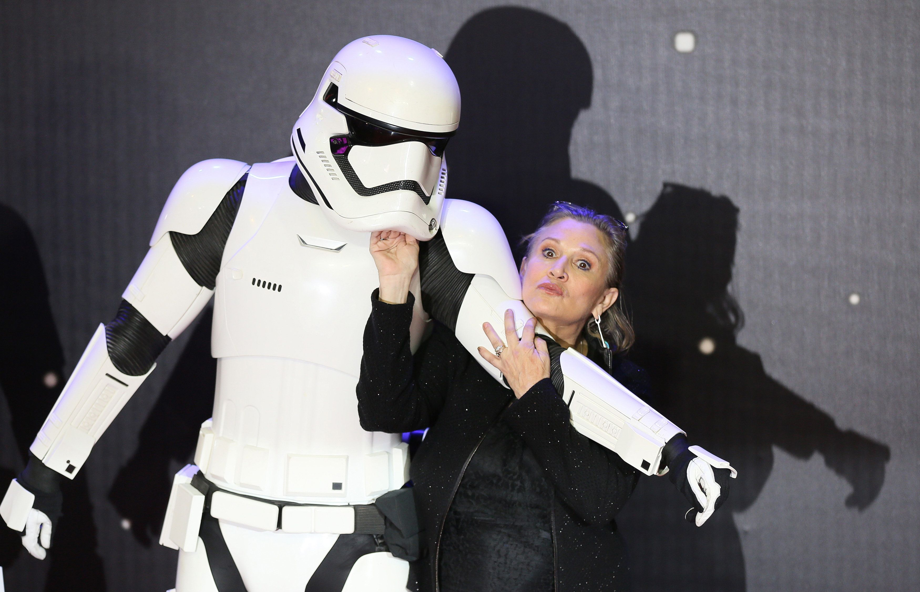 Carrie Fisher improved lines in 'Star Wars: The Last Jedi'